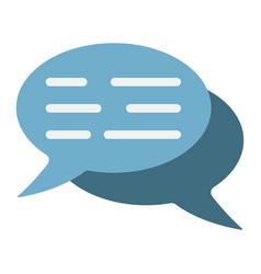 speech bubbles flat icon seo and development vector image vector image