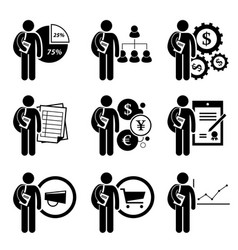 student degree in business management - analysis vector image