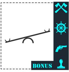 swing icon flat vector image