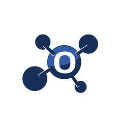 synergy logo initial o vector image