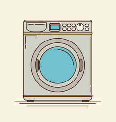 Washing machine in flat stylemodern vector