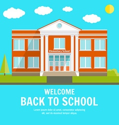 welcome back to school background with place vector image