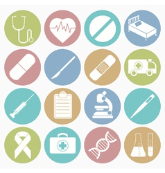 white icons medical vector image