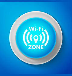 wi-fi network icon isolated on blue background vector image