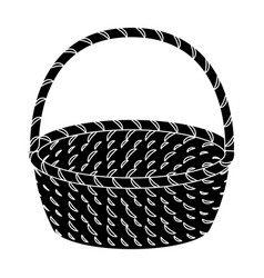 wicker basket made of twigs easter single icon in vector image
