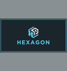 xp hexagon logo design inspiration vector image