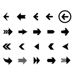 Back and next arrow icons set vector image vector image