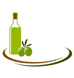 background with olive oil and olives vector image vector image