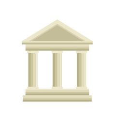 building roman columns icon vector image