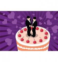 gay wedding cake vector image vector image