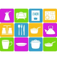 Kitchen set vector image