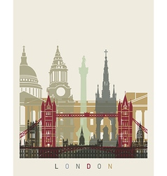London skyline poster vector image vector image