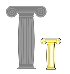 Old greek column Ancient stone high post vector image