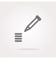 School Pencil Icon web icon on white vector image vector image