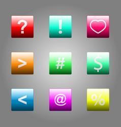web elements button set vector image vector image
