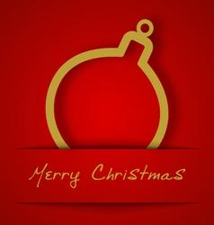 Christmas gold ball applique vector image vector image