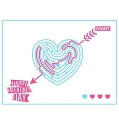 Concept of Happy Valentines Day greeting or vector image