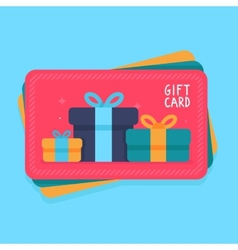 Gift card in flat style vector