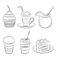 sketch food vector image