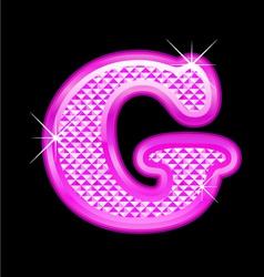 G letter pink bling girly vector