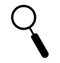 magnifying glass the black color icon vector image vector image