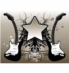 star guitar vector image vector image