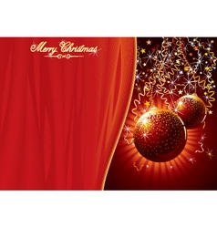 template for chrismas card vector image vector image