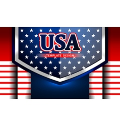 american template background vector image