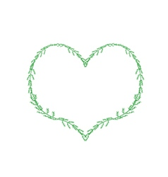 Fresh Green Leaves Forming in A Heart Shape vector image vector image