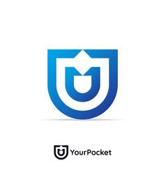 letter u logo design template vector image