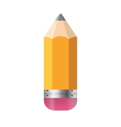 Pencil Isolated on White Background vector image vector image