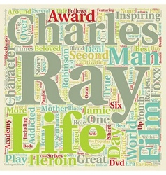 Ray DVD Review text background wordcloud concept vector image