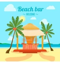Tropical Beach Bar Banner Card vector image