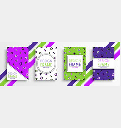 abstract colorful background template design set vector image