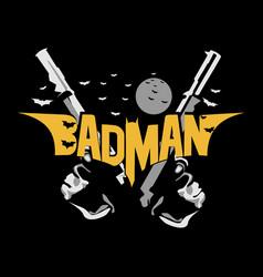 Badman - batman parody t shirt design vector