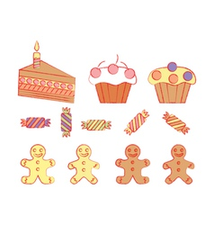 Birthday sweetmeats vector