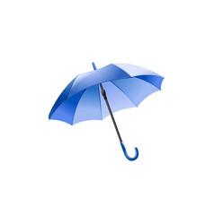 blue umbrella isolated on white vector image