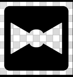 Bow tie rounded square vector