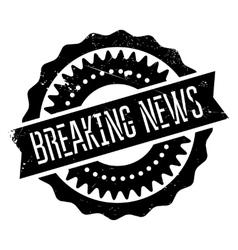 Breaking news stamp vector
