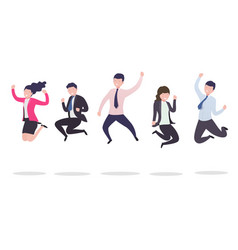 business people in a jump vector image