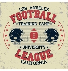 California football vintage t-shirt graphics vector
