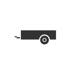 car trailer icon flat vector image