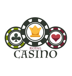 Casino royal club isolated icon poker chips vector