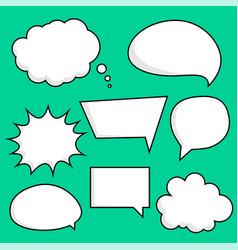 comic chat bubbles sticker set vector image