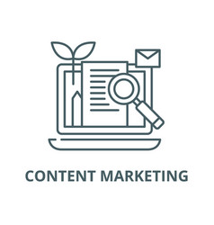 content marketing line icon content vector image