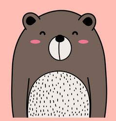 cool bear background vector image