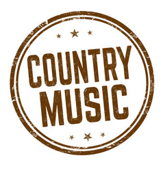 Country music sign or stamp vector