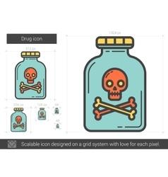 Drug line icon vector image