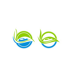eco laundry dry cleaner set vector image