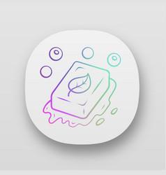 Eco soap app icon vector